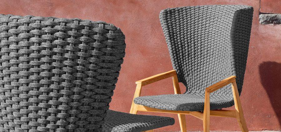 Градинско кресло с висока облегалка Knit