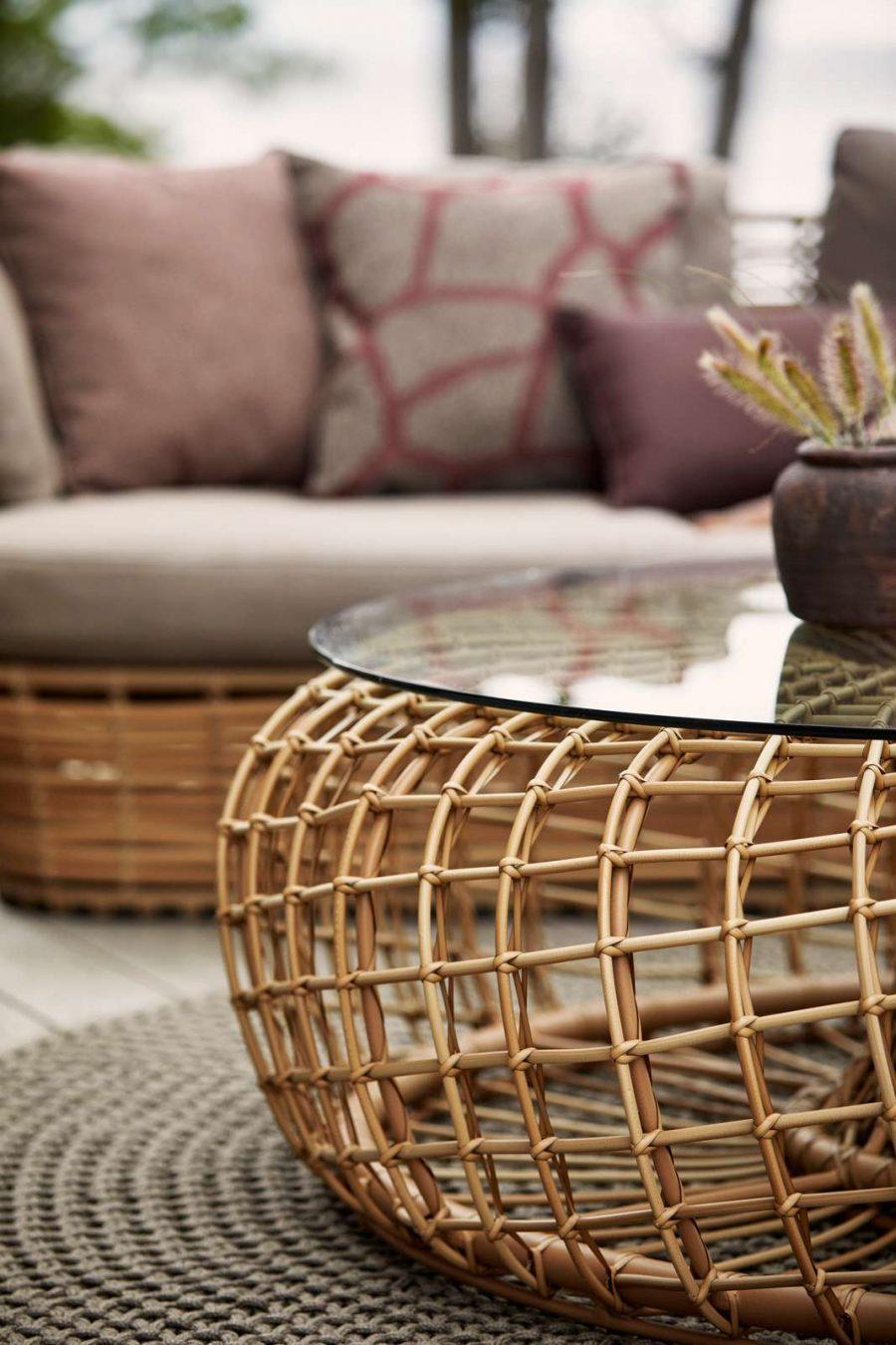 Градинска маса за кафе Nest, натурален цвят 1