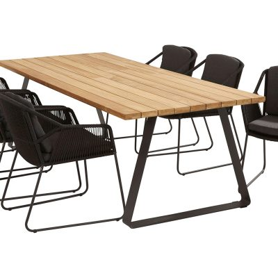 Градинска маса Basso, правоъгълна, столове Accor