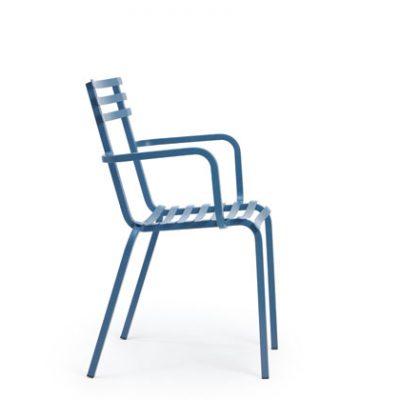 Градински стол Flower, с подлакътници, метал