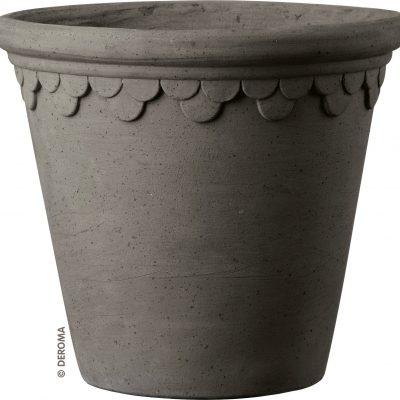Керамична саксия Royal, сива