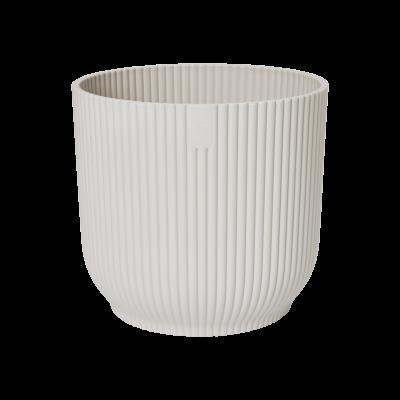 Пластмасова кашпа Vibe, бяла