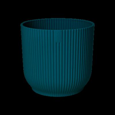 Пластмасова кашпа Vibe, синя