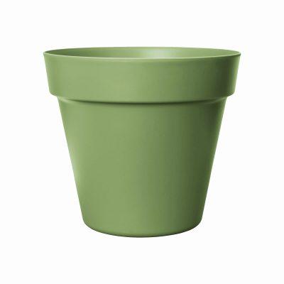 Пластмасова саксия кашпа Paris, зелена